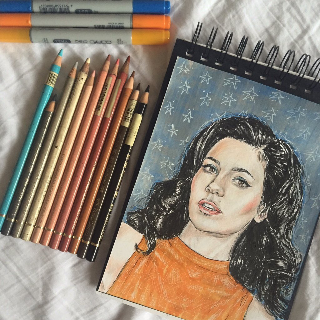 the marina diamandis drawing i did for lucy because it's lucy's birthday and i love lucy https://t.co/aoMVOEDvdu
