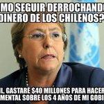 @GobiernodeChile presidenta con todo respeto VÁYASE A LA CONCHA DE SU MADRE! @TVN @T13 https://t.co/irjQn59VrA