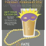 Let the good times roll... Tomorrow -- Mardi Gras at FATE. #drinkyourFATE #boulder https://t.co/zrn1kFw5jO