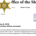 Ouch! Chowchilla police officer arrested for sex with minor. @ABC30 https://t.co/TNe566AVdm