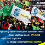 .@MashiRafael ¡Todos a la Plaza Grande! #Alerta10F los golpistas no pasarán. #NadieTocaMiRC https://t.co/p5Bry6zCt8