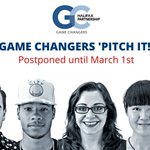 Due to the winter storm, we are postponing tomorrows Game Changers Pitch It! event until March 1 https://t.co/B6bTVYcFj6