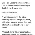 Gerry Adams is quick off the mark condemning tonights gangland murder. https://t.co/OoqpqhXWnl