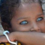 Uma garotinha indiana com um lindo e raro tom de azul nos olhos. https://t.co/Ur3GdWSJWn