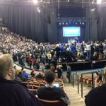Pano of Trump rally. Crowd is about 50% larger than Sanders/Clinton rally held Fri in same arena #KIROVote2016 https://t.co/a44E03Aapw