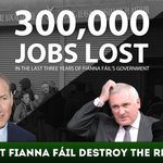 CORRECTION: Fianna Fail has NO plan! They destroyed the economy and lost 300,000 jobs. #CBLive https://t.co/Ac5AUGl1B1