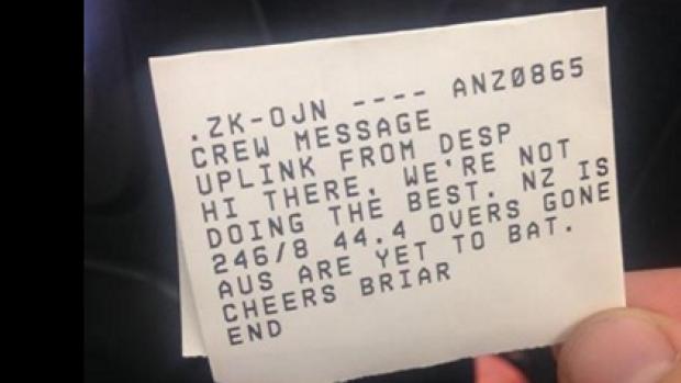 RT @NZStuff: Air New Zealand provides passenger with a mid-flight cricket score update