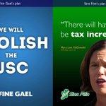 SINN FÉIN: Increase taxes. FINE GAEL: Abolish the USC. #CBLive https://t.co/HsFAq5Pqvs