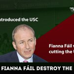 Fianna Fail created the USC and voted to keep it. They would destroy the recovery. We will absolish it. #CBLive https://t.co/v5FiodDRKX