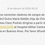 Por favor difundir RT. Abril lo necesita @recontravale5 @LigaNacional @simplebasquet @diarioepoca @TassanoEduardo https://t.co/uq2EfgGQLx