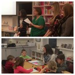 1st grade teachers & students model small group reading instruction at board meeting. #soloncsd https://t.co/uhAXDMg2Cm