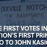 Early momentum as @JohnKasich wins GOP vote in Dixville Notch! Lets keep it going, New Hampshire. https://t.co/CtXnCn9c4Z