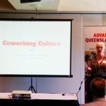 Joy Taylor taking about successfully establishing @CanvasCoworkInc space in #Toowoomba. #AdvanceQld https://t.co/buRiOBePof