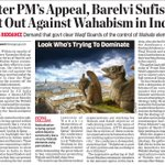 After PM Modis appeal, Indias Barelvi Muslims and Sufis hit out against Saudi-funded Wahabi Islam in #India . https://t.co/xC6awP5wM7