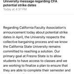 Heard about #CFAs potential strike dates? Heres @Fresno_States response: https://t.co/7WvozN0XsL