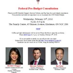 Pre-Budget Consultation. We value your input. Please join me & my colleagues @BardishKW & @MarwanTabbaraMP this Wed https://t.co/Vobm26tSfk