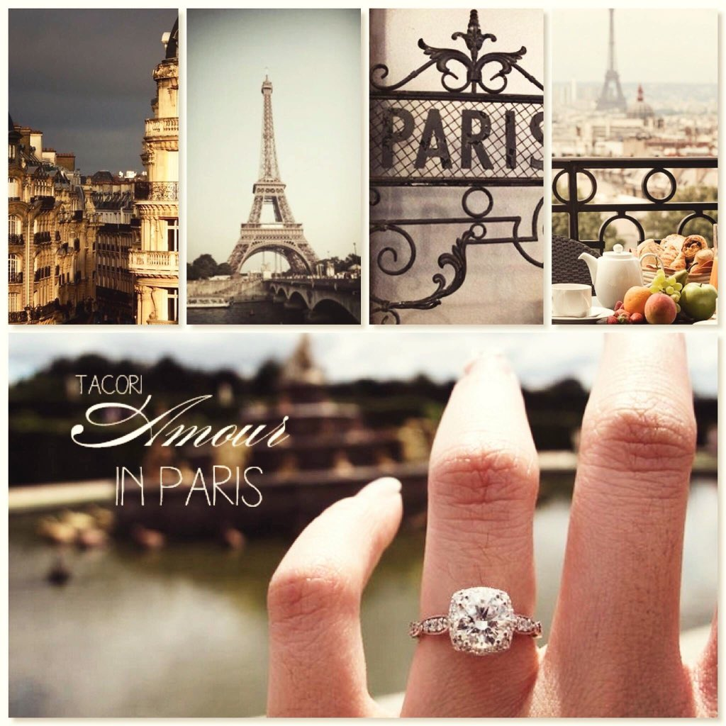 He asked her and she said YES !! It was in the city of Love n Sparkles ❤️ #Tacori #KARATS #EngagementRingSuperStore https://t.co/KogLpzt3z2