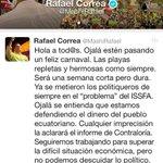 Compartimos el mensaje de @MashiRafael. Firmes y comprometidos con la #RC ¡Los de siempre no pasarán! #NadieTocaMiRC https://t.co/Z8M4QTmKsn