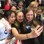 New Hampshire selfie game strong. And so is your support for my mom! #ImWithHer https://t.co/bh3U0wUk7O