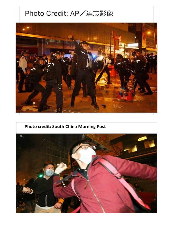 一個現場情況,兩個報社的圖片,立場清楚不過了。#MongKok #HongKong #SCMP https://t.co/rIm4KD8JSd
