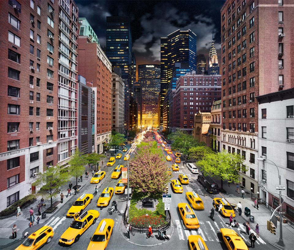 Park Avenue, Day To Night | Photography by ©Stephen Wilkes https://t.co/t80WO8tjGO