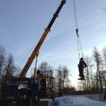 Сегодня был демонтирован памятник М.В. Фрунзе (скульптура) и отправлен в реставрационную мастерскую. https://t.co/g39mjONt3r
