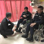 CY Leung visited some injured officers this morning & condemned the rioters. https://t.co/JK5zaDuzVz https://t.co/gRjj5T5SWE