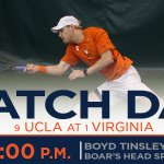 Match day! No. 1 #UVAMTennis hosts No. 9 UCLA in a top-10 battle at the Boars Head. Admission is FREE! https://t.co/RDfznatGFa