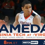 GAME DAY! #UVA plays host to Virginia Tech at 8 pm in ACC matchup. Where to watch: https://t.co/FhmYZtEOVt https://t.co/eGfd1eyJrk
