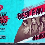 Thnx @5HonTour! #Harmonizers, nominated for #BestFanArmy at the #iHeartAwards. RT or go to https://t.co/aPueslpaIw https://t.co/lXja0sEVQo