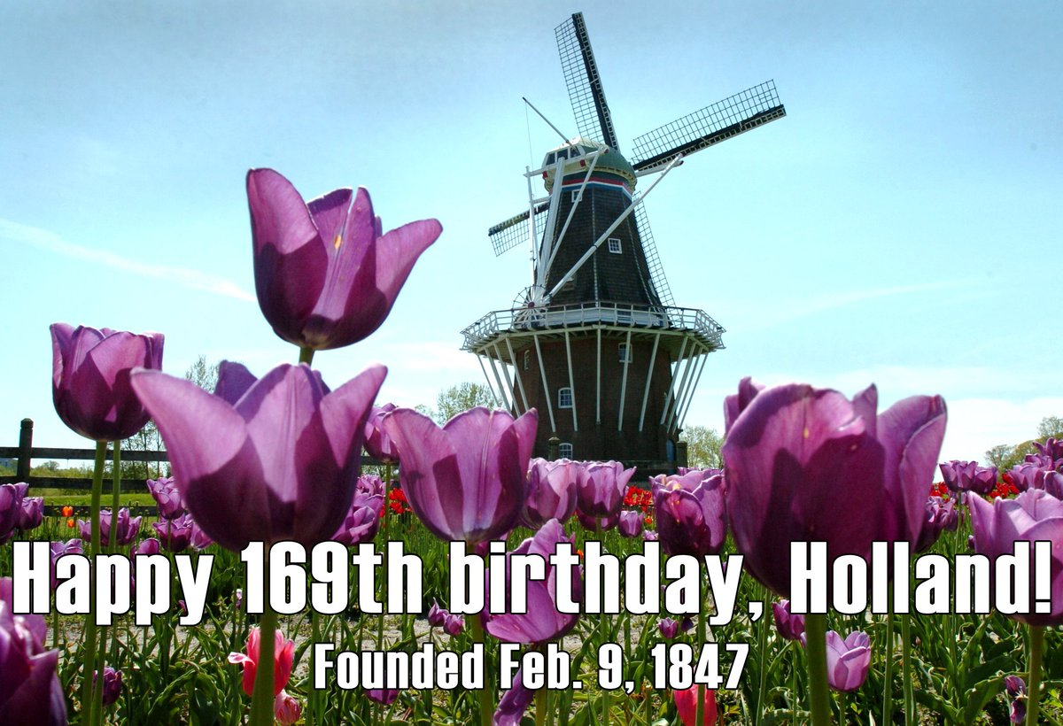 Happy birthday, @CityofHolland! https://t.co/FvFB7XFv8l https://t.co/NOsQJWFhVc