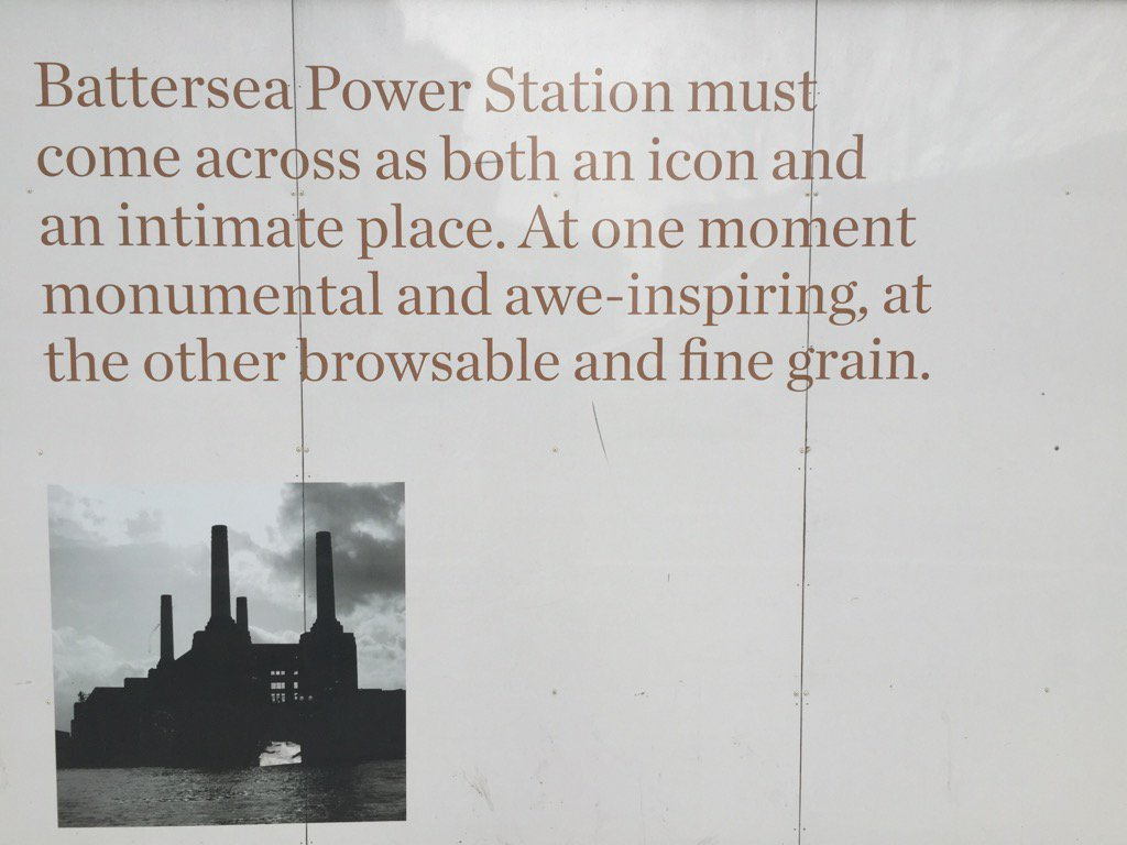 I mean, what does this even mean?? Hoarding, 'New' Battersea Power Station. https://t.co/6MZHNwuCET