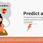 #ContestAlert #Predict2Win Predict the Final Score of India vs Sri Lanka match tonight & win wallet credits! https://t.co/zKDqqbjNxs
