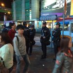 More than usual police are patrolling Mong Kok, with helmets clipped to their belt. https://t.co/CHrJTcd0St