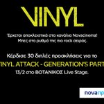 Nova Προνόμια: Μπες στο https://t.co/xNckto0nhu για προσκλήσεις στο VINYL ATTACK - GENERATIONS PARTY 13/02. https://t.co/2IF6vGjeeu