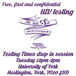 Were doing free, fast and confidential #HIVtesting at York Uni today, room G/045b, James College, 12pm-2pm :) https://t.co/VxtzgYFutF