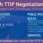 Do any of these #TTIP topics pique your interest? Present *your* views to the negotiators: https://t.co/L7qQuCzcFj https://t.co/M6UY5vApMz