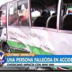 [#ENVIVO] Violento accidente en el centro de Lima deja un fallecido #ATVNoticiasAlDía ►https://t.co/3lEAlwQS8I https://t.co/pCmwo8hQBN