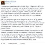 Hemskt vittnesmål av @kickanwicksell om hoten och hatet hon fått efter #inteerkvinna https://t.co/s9QhQXcBUr