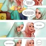 """""""Pehal baca Quran padahal kau tak faham pun apa kau baca tu!?""""  Nah...  *Komik daripada Coklat Tarbiah, Aiman Banna. https://t.co/vnz0Rx2t0o"""