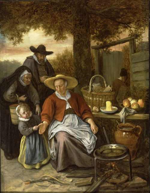 """Find it @ MAG """"@JohnConstableRA: For Shrove Tuesday: The Pancake Woman by Jan Steen ca. 1661 https://t.co/zUo25TklxX"""""""