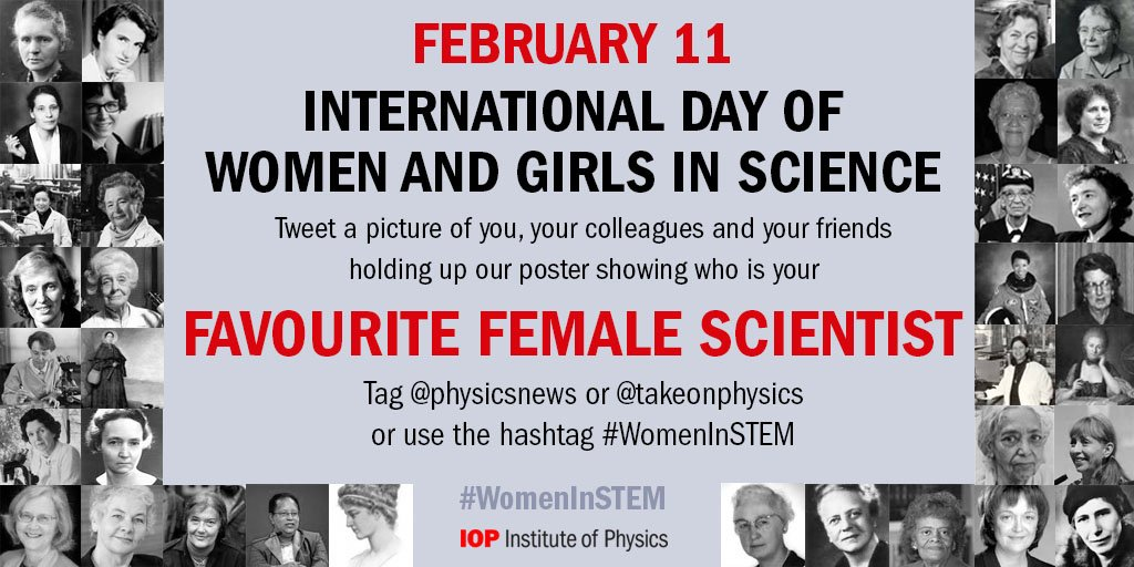 On Thurs tweet a photo of you and our poster telling us about your favourite #WomenInSTEM: https://t.co/LR5JCHIjrb https://t.co/V9h42L63qv