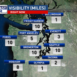 #Visibility is poor south and north of #Seattle. Watch out for that #fog. @parisjKOMO #liveonkomo #weather https://t.co/xgKUhxECq5