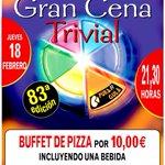 El 18F alguien ganará un Buffet de Pizza para 2 en @PuraGulaBurgos .Puedes ser tú si retuiteas este cartel. Suerte!! https://t.co/VKrGo9p7cK