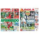 """Capas dos jornais """"Record"""" e """"A Bola"""" de hoje ????⚪️ #carregabenfica #EPluribusUnum #Benfica https://t.co/KQchJ2Dioz"""
