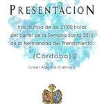 Hoy a las 21:00 de la noche tras la misa, presentación del cartel de la @PrendimientoCor @PrendimientoGJ https://t.co/wrhXQoBxOv