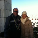 Karen and I high atop Biloxi city. We will see you live on tv and web for amazing parade coverage #carnival @wlox https://t.co/ODx18kyMg1
