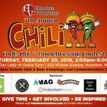 Chili Cook-Off & Homebrewing Contest less than 2 weeks away! Buy your tix for Sat 2/20 at https://t.co/9shs2TNInh https://t.co/FsoM6cZpq9