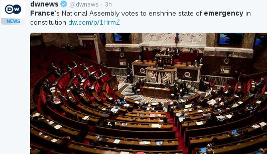 #France, who gave us the Statue of Liberty, just voted to end their own. https://t.co/QwXz2BgRWX