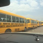 The buses that transport rented crowds for @NRMOnline rallies. #UgandaDecides https://t.co/Rmj1so3CaW